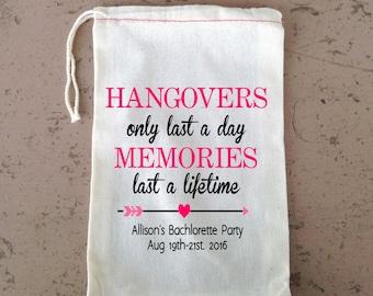 Bachelorette Bag, Favor Bag, Wedding Party Bag, Bridesmaid gift bag, Cotton drawstring Bag