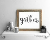 gather printable - INSTANT DOWNLOAD digital printable art
