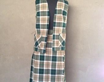 HALF OFF Vintage 1960s Traditional Mens Tartan Plaid Kilt and Vest of Moffat Weavers of Scotland M (c)