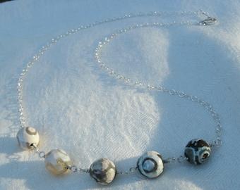 Agate Rondelle Necklace