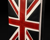 SPOOKTACULAR SALE Leather Journal, United Kingdom Flag, British Flag Journal: Union Jack Journal
