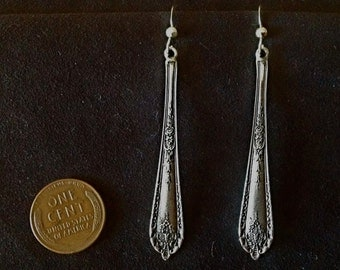 ALL Solid Sterling silver Alvin 1922 Della Robbia bride spoon earrings chandelier dangle vintage flatware jewelry handmade