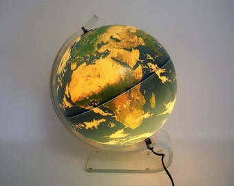 Beautiful Illuminated Planet Earth by Krent/Paffett/Teifert made in Denmark