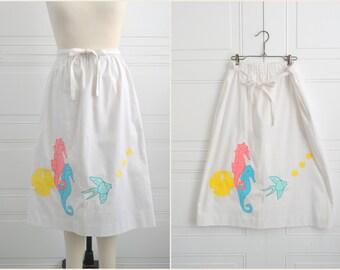 1980s Seahorse Applique Skirt