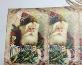Sale price Christmas tags vintage Santa,  sale Christmas gift tags, Christmas hang tags on sale
