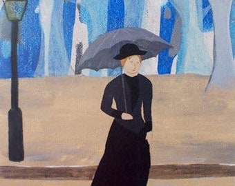 Print: The Girl With the Grey Umbrella