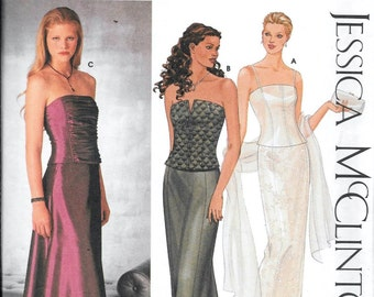 Simplicity 9484 Bustiers and Fitted Skirts Sewing Pattern Jessica McClintock Evening Dressy Size 12, 14, 16 and 18 UNCUT