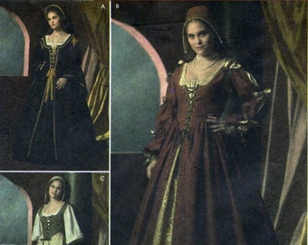 Simplicity 4488 Misses Renaissance Medieval Tudor Dress Costume Sewing Pattern Plus Size 16, 18, 20, 22 and 24 UNCUT