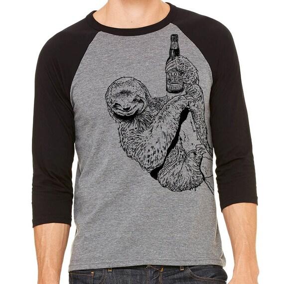 Sloth shirt craft beer funny beer shirt beer gift for Funny craft beer shirts