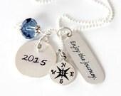 Retirement Gifts - Retirement Gift For Teacher - Enjoy The Journey - Encouragement Necklace -Graduation -Retirement Gift