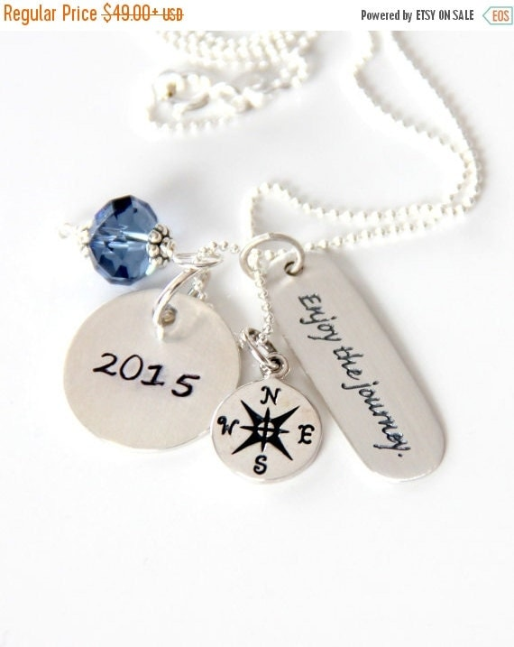 Retirement Gifts - Retirement Gift For Teacher - Enjoy The Journey - Encouragement Necklace -Graduation -Retirement Gift