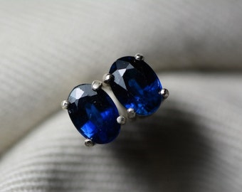 Sapphire Earrings, Blue Sapphire Stud Earrings 1.51 Carat Appraised at 1200.00, September Birthstone, Natural Sapphire Jewellery, Oval Cut