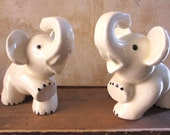 Pair of midcentury vtg Occupied Japan elephant planters / succulents / made in Japan / nursery kitchen decor / pair set two