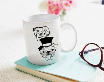 English Bulldog Coffee Mug Bulldog Inspirational Coffee Mug Dog Mama Graduation Gift Dog Lover Christmas Gift Teacher Gift