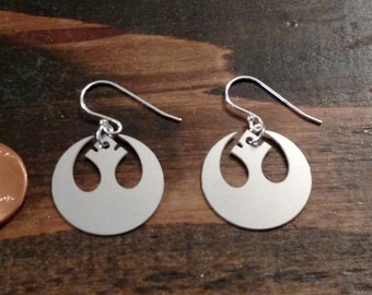 Rebel Swan Star Wars earrings