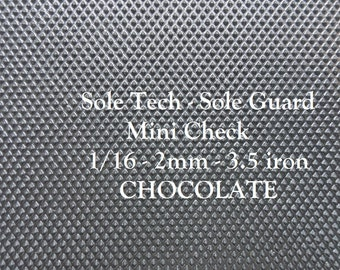 Shoe Supplies - Sole Tech - Mini Check Sole Rubber - Shoe Soling Rubber - Outdoor Shoe  Sole Supplies