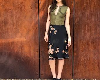Rare 1970's Christian Dior Floral Skirt for Bonwit Teller