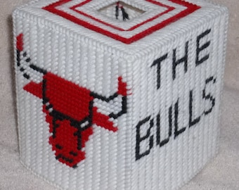 The Bulls Tissue Box Cover Plastic Canvas Pattern