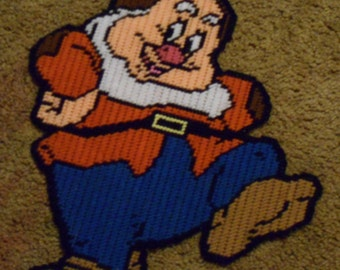 Happy Fron the 7 Dwarves Plastic Canvas Pattern