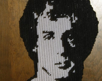 Rocky Balboa Silhouette Plastic canvas Pattern