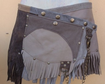 "20%OFF bohemian tribal gypsy fringed leather belt..28"" to 37"" waist or hips.."