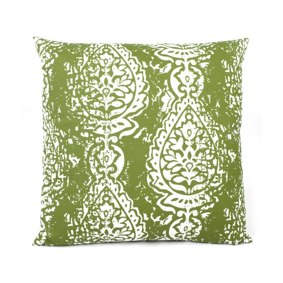 Green Outdoor Throw Pillow Cover 20x20 Square Green