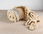 Boho Crochet Belt, Gypsy Crochet Belt, Crochet Cords, Crochet Flowers Belt, Tribal, Bulgarian Etno Style size- S, M, L, XL, XXL