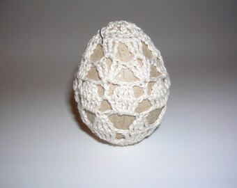 Crocheted Egg - Natural No. 5