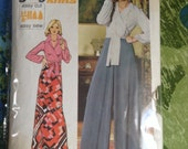 Reserved Vintage Simplicity 6020 Wrap Blouse and Wide Leg Pants Sewing Pattern 40 Inch Bust