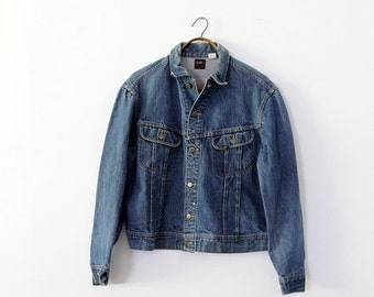 SALE 1970s Lee denim jacket,  Lee PATD-153438, vintage jean jacket,