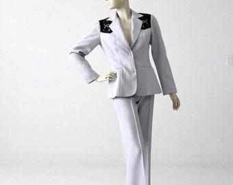 SALE 1970s H Bar C women's suit, western rodeo pants and blazer