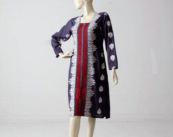 SALE 1970s tunic, vintage boho hippie caftan dress