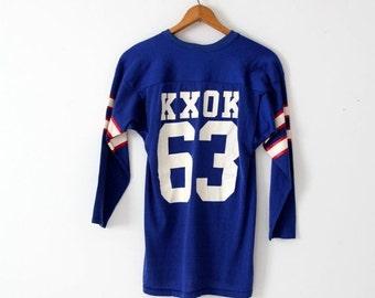 SALE 1970s KXOK radio station jersey t-shirt, vintage football jersey shirt