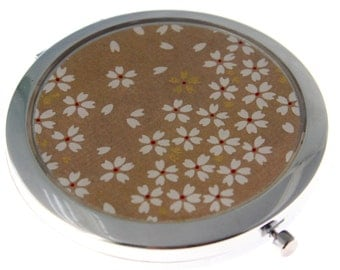 Latte Chiyogami. Compact Mirror