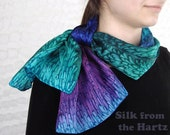 Jewel Tone Individually Hand Dyed Silk Scarf