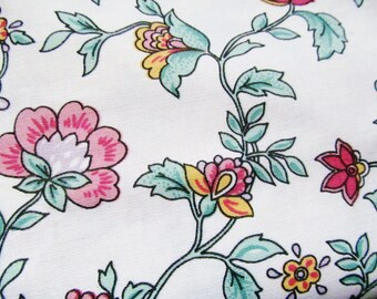 SALE! Vintage Retro Horrockses Curtains 70s 80s Cotton Polyester Floral Leafy print Cottage Chic unlined