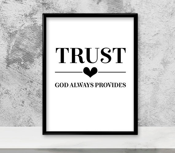 God Always Provides Christian Wall Art Canvas Wall Art