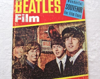 Vintage Beatles Magazine Filming With The Beatles 1964 Behind The Scenes Story And Photos Souvenir For Film Fans