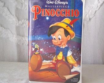 Vintage Pinocchio VHS Tape Walt Disney's Home Video 1990s