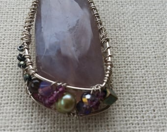 Amethyst wrapped in sterling silver