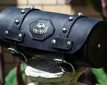 Harley Davidson leather tool bag sissy bar tool bag black