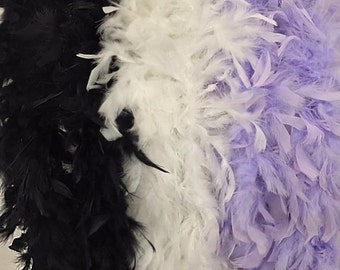 Chandelle Feather Boas in a variety of colors