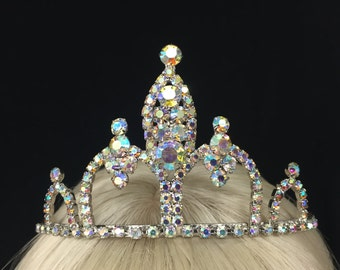 Vintage Royal Queen or Princess Rhinestone Tiara! Wear at a wedding, prom, sweet 16,  quinceanera, or be princess, queen!