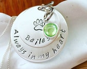 Free Shipping !! Pet memorial necklace - dog/cat memorial necklace - pet remembrance necklace,