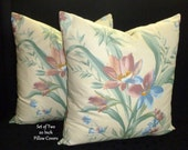 Pillows,Throw Pillows, Pillow Covers, Decorative Pillows, Accent Pillows, Cushion Covers -  Set of Two 20 Inch - Floral
