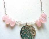 Rose Quartz Love Necklace-Quartz Necklace-Heart-Pink-Gemstones-Starsight Jewels-Healing Gems-Etsy-Reiki-Chakra-Metaphysical