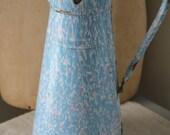 French enamel splatter pitcher