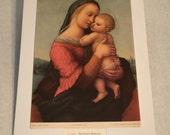 "1937 Art Print ""The Tempi Madonna"" by Raphael"