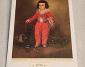 """1937 Art Print """"Manuel Osorio Manrique de Zúñiga"""" by Francisco Goya"""