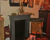 Small fireplace mantle- primitive, colonial (FREE SHIPPING)